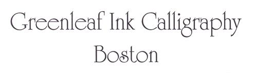 Block Styles Greenleaf Ink Calligraphy